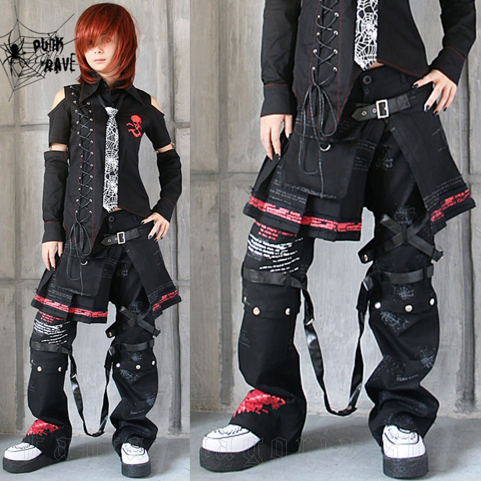 women's Chaos Girl Trousers And Skirt Set by PUNK RAVE brand, code: K-053