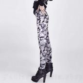 women's Skulls Leggings by PUNK RAVE brand, code: K-259/BK