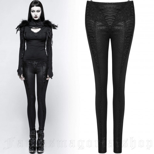 women's Adora Leggings by PUNK RAVE brand, code: K-291/BK