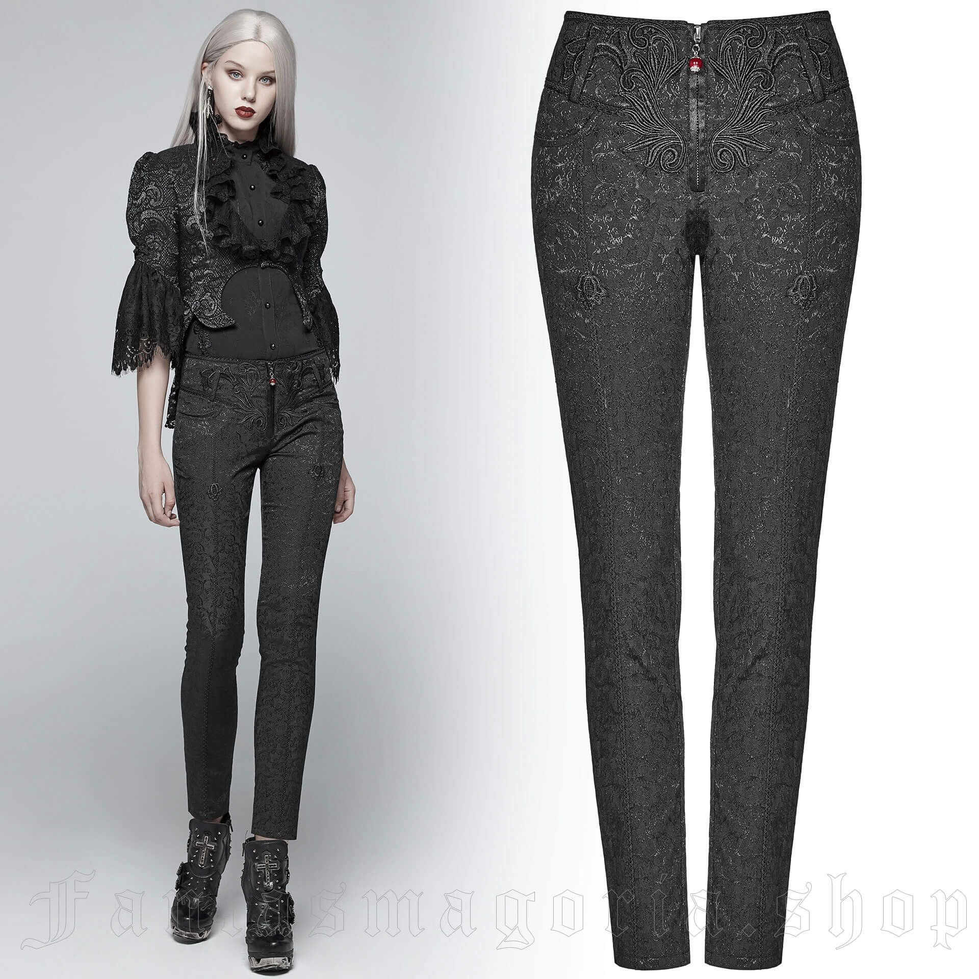women's Celestia Trousers by PUNK RAVE brand, code: WK-351