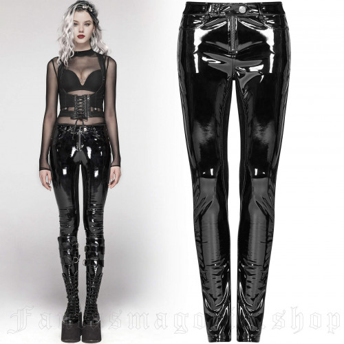 women's Toxica Trousers by PUNK RAVE brand, code: WK-378/BK-BRI