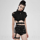 women's Furiosa Shorts by PUNK RAVE brand, code: WK-394/BK