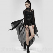women's Furiosa Shorts by PUNK RAVE brand, code: WK-394/BK