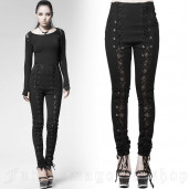 women's Elegant Delight High Waist Trousers by PUNK RAVE brand, code: PK-021