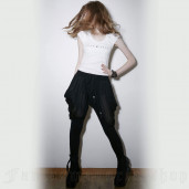 women's Black Moth Trousers by PUNK RAVE brand, code: PK-057