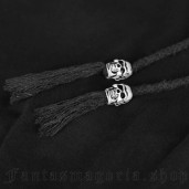 women's Black Moth Trousers by PUNK RAVE brand, code: PK-057