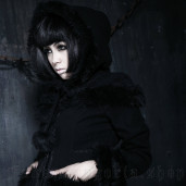 women's Dolly Black Coat by PUNK RAVE brand, code: LY-045/BK