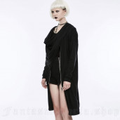 women's Black Drama Cardigan by PUNK RAVE brand, code: OY-845