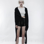 women's Black Chaos Cardigan by PUNK RAVE brand, code: OPY-274
