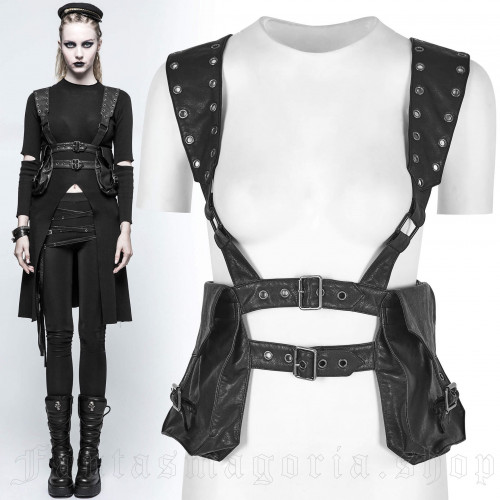 women's Annihilator Harness by PUNK RAVE brand, code: S-217/Female