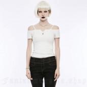 women's Rhea T-Shirt by PUNK RAVE brand, code: OPT-145/WH