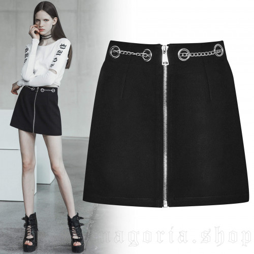 women's Brute Skirt by PUNK RAVE brand, code: OPQ-404