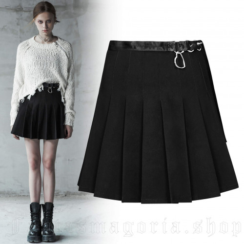 women's Miku Skirt by PUNK RAVE brand, code: OPQ-411/BK