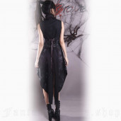 women's Black Dragonfly Dress by PUNK RAVE brand, code: Q-072
