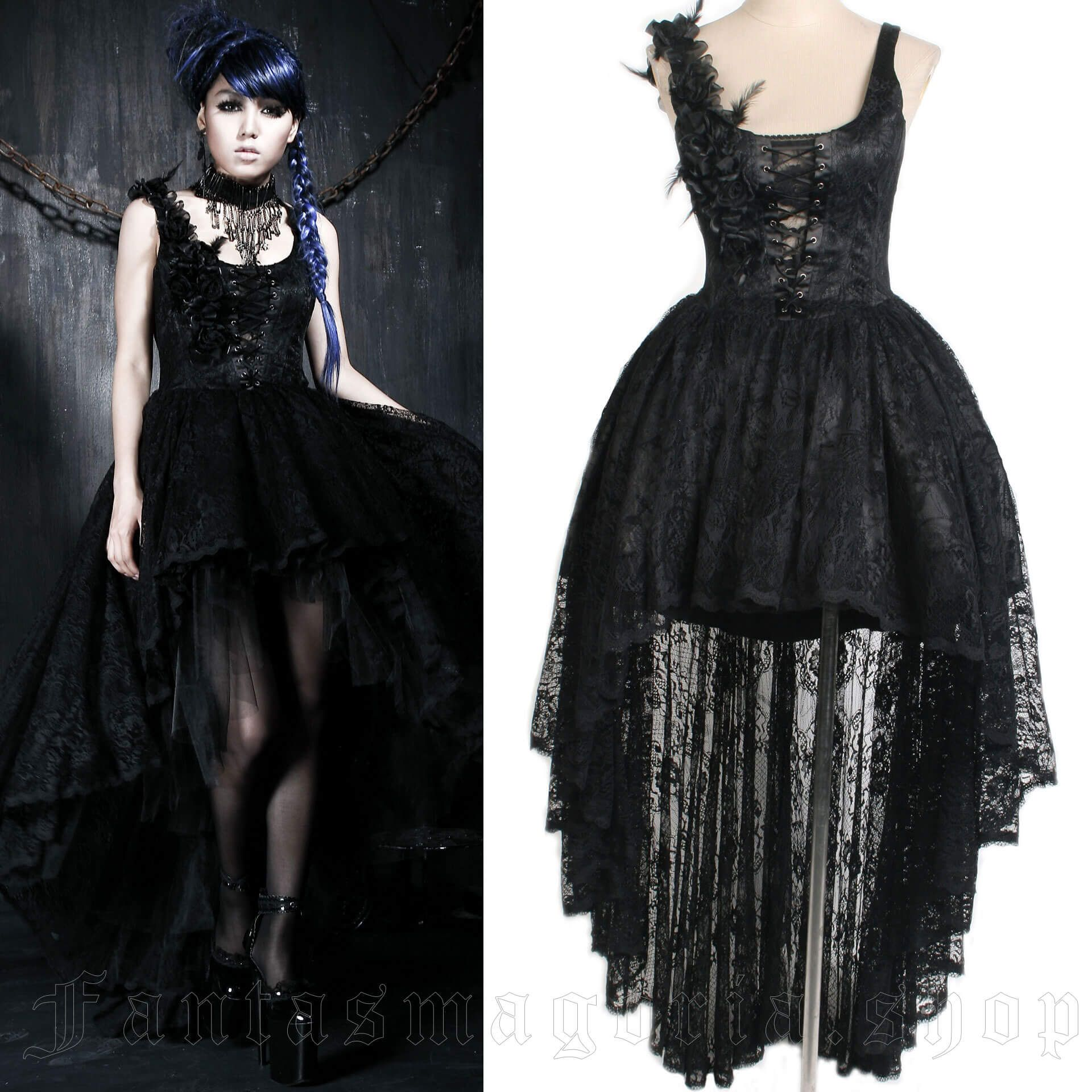 women's Gardenia Dress by PUNK RAVE brand, code: Q-174