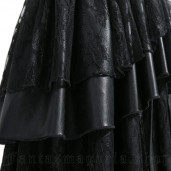women's Black Mermaid Skirt by PUNK RAVE brand, code: Q-194