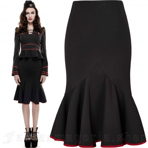 women's Rebella Skirt by PUNK RAVE brand, code: Q-286/BK-RD