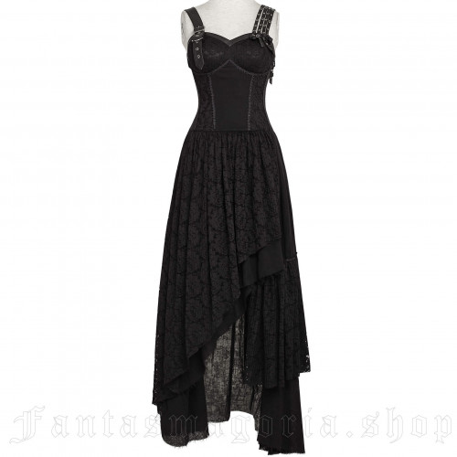 Mechanical Illusion Black Dress