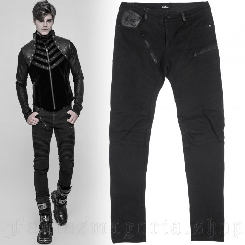 Black Engine Trousers