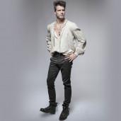 men's Torero Trousers by PUNK RAVE brand, code: K-238