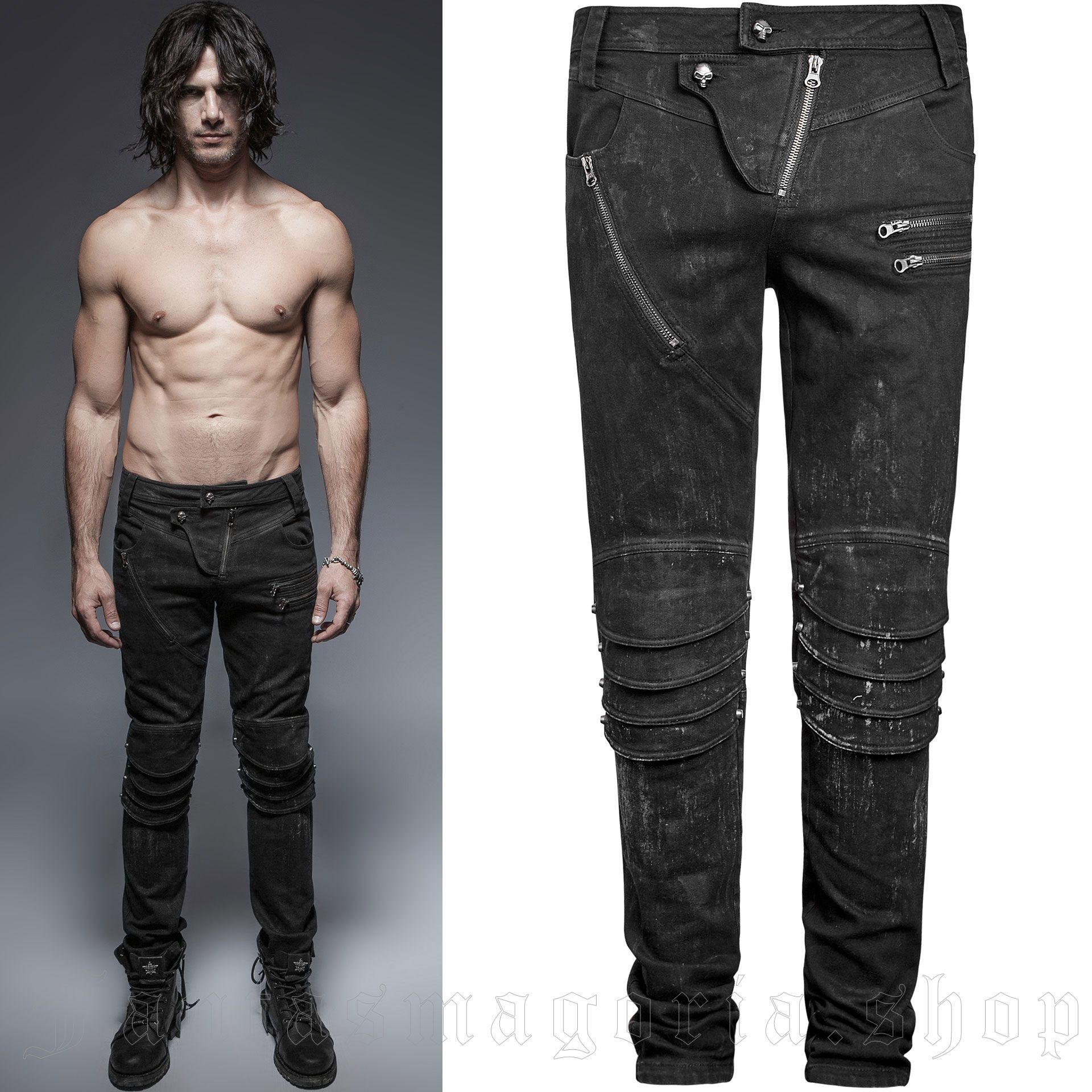 men's The Smog Trousers by PUNK RAVE brand, code: K-239