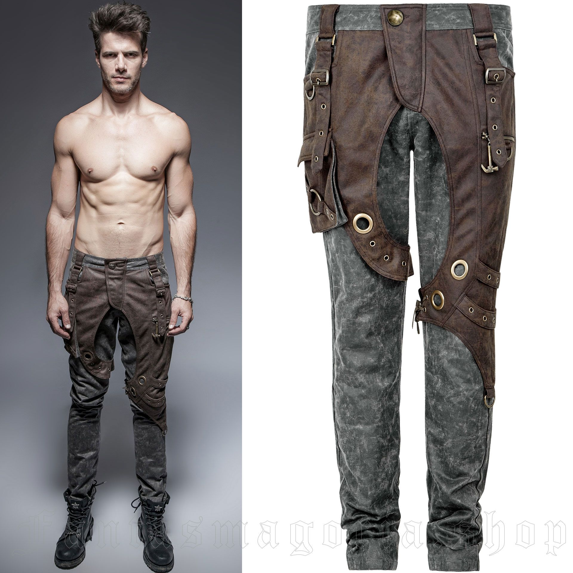 men's Apocalypse Trousers by PUNK RAVE brand, code: K-241