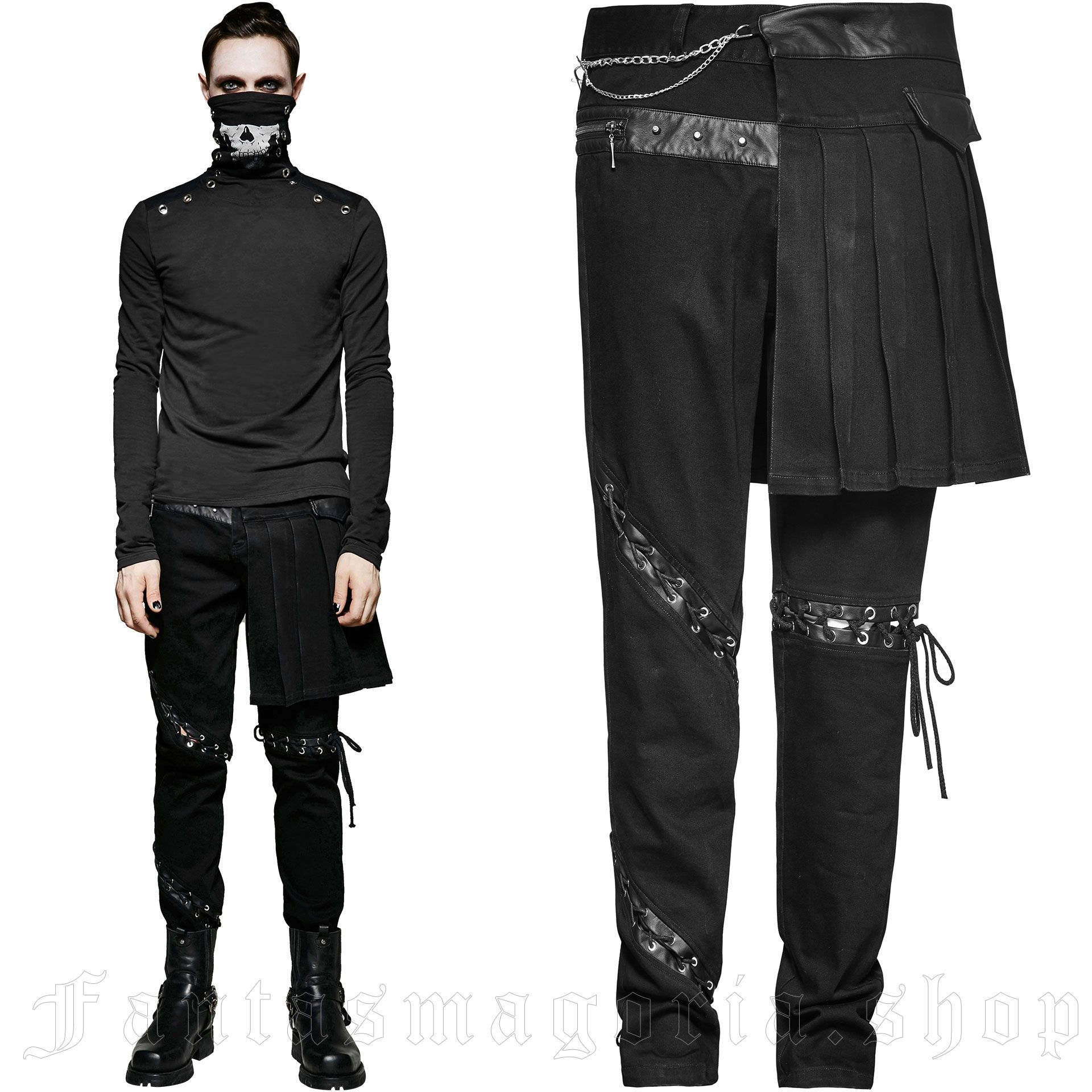 men's Catacomb Trousers by PUNK RAVE brand, code: K-255/Male