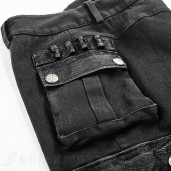 men's Militarist Trousers by PUNK RAVE brand, code: K-264