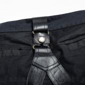 men's Commander Trousers by PUNK RAVE brand, code: K-269/BL