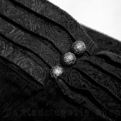 men's Black Cardinal Trousers by PUNK RAVE brand, code: K-280