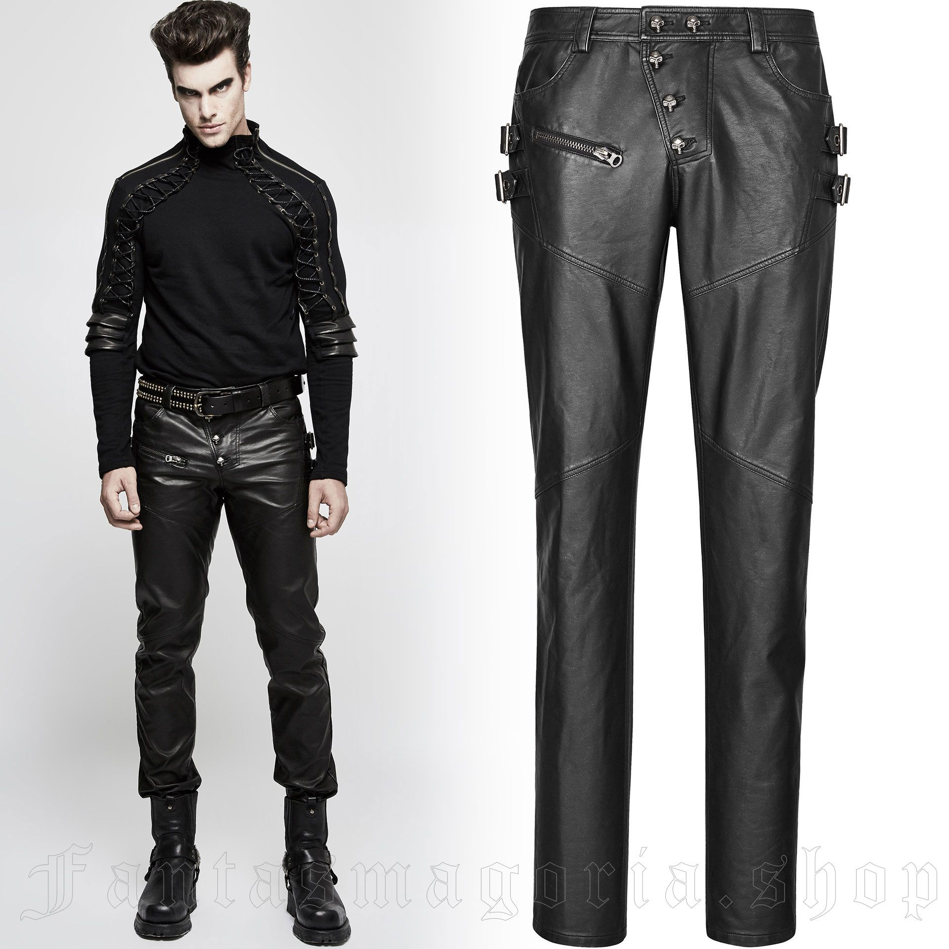men's Nergal Trousers by PUNK RAVE brand, code: K-301