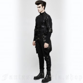men's Black Cossack Trousers by PUNK RAVE brand, code: K-304