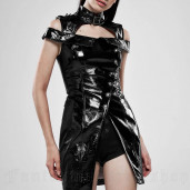 women's Techno Geisha Top by PUNK RAVE brand, code: WQ-449/BK