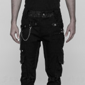 men's Black Swamp Trousers by PUNK RAVE brand, code: WK-335