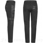 men's Black Plague Trousers by PUNK RAVE brand, code: WK-339