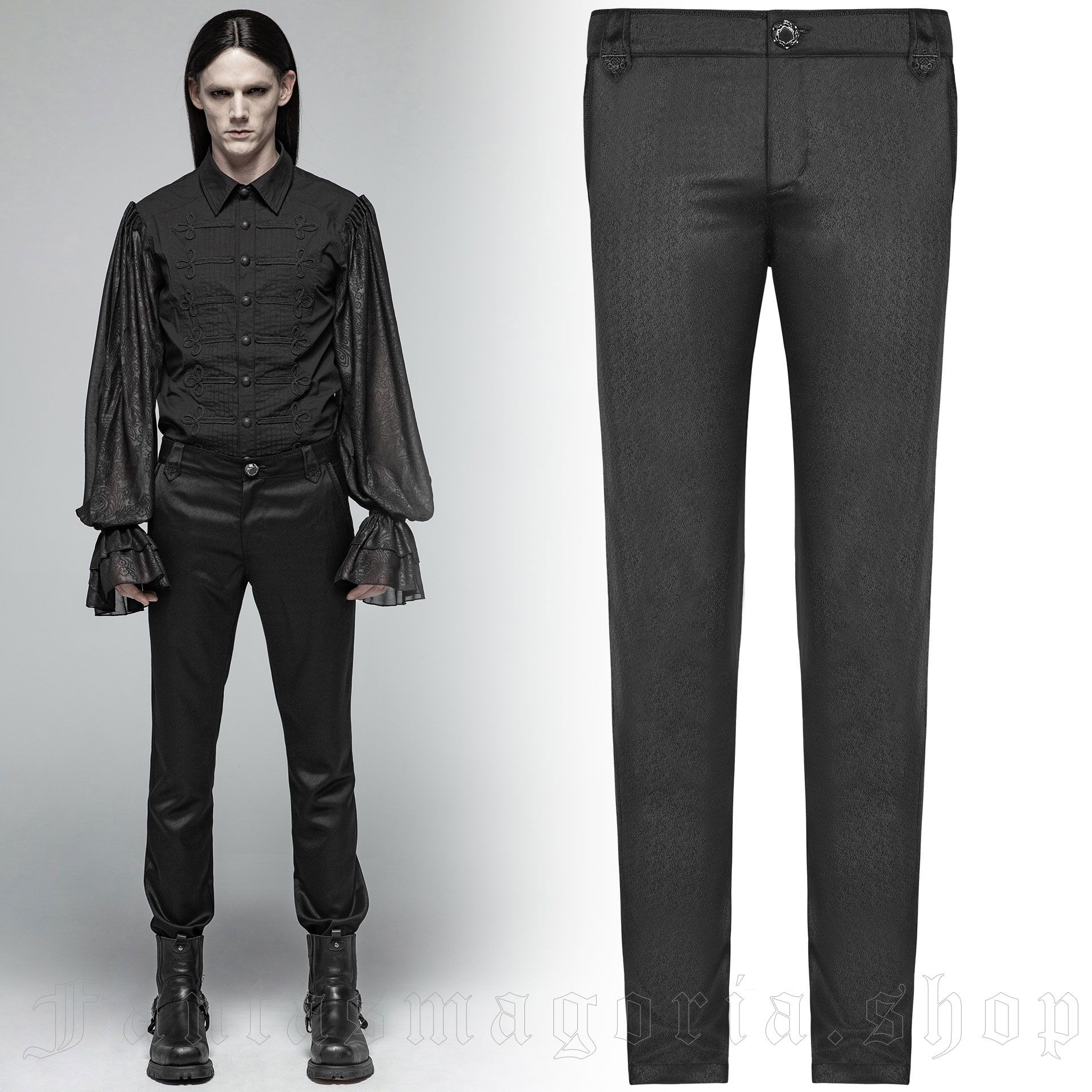 men's Noctis Trousers by PUNK RAVE brand, code: OK-363