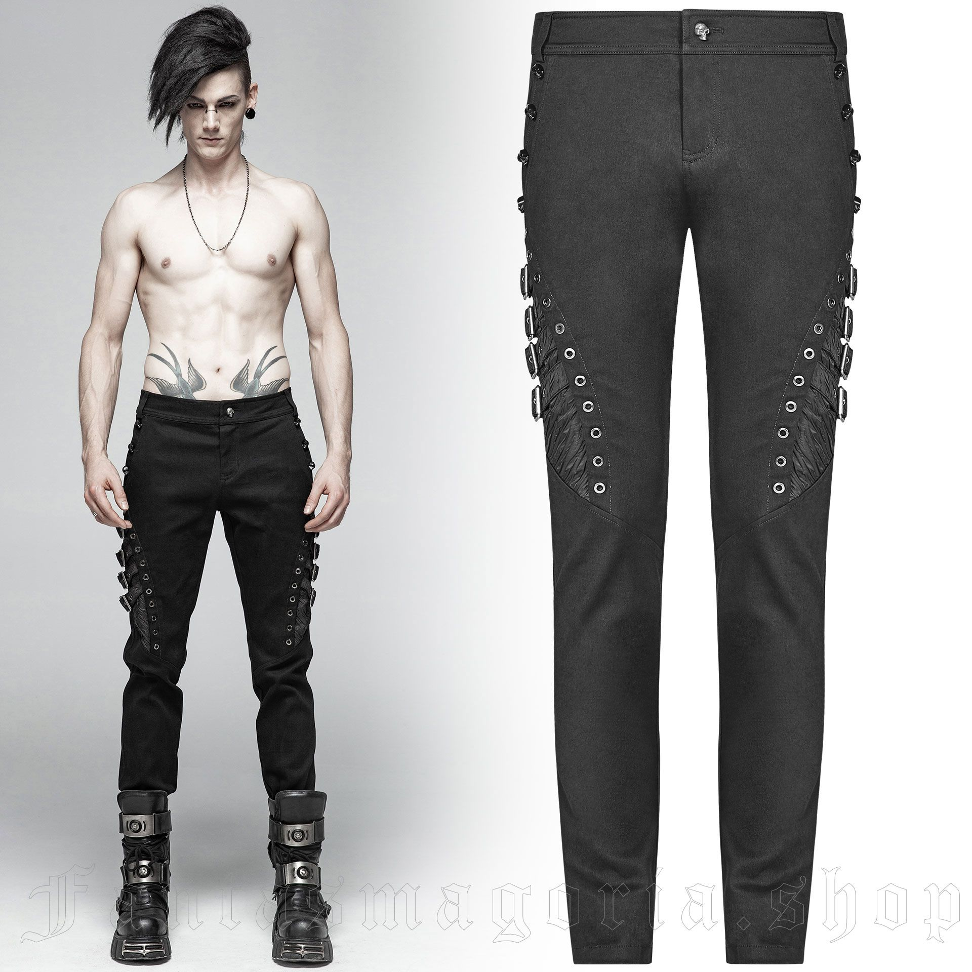 men's Sanctum Trousers by PUNK RAVE brand, code: WK-365