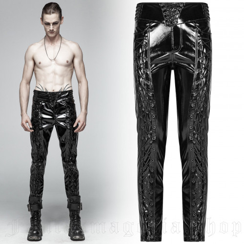 men's Obsessionx Trousers by PUNK RAVE brand, code: WK-367