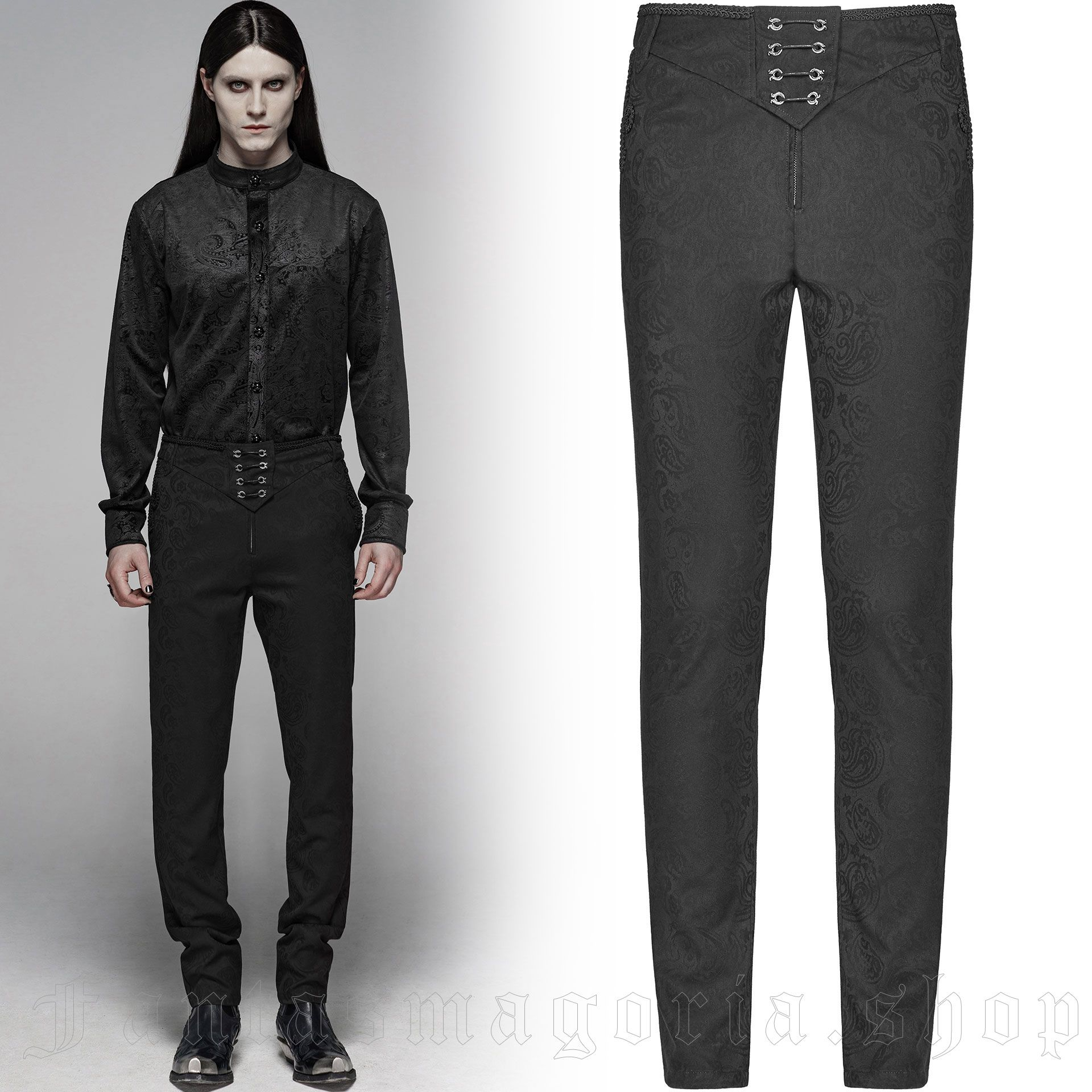 men's Noctivagus Trousers by PUNK RAVE brand, code: WK-385/BK
