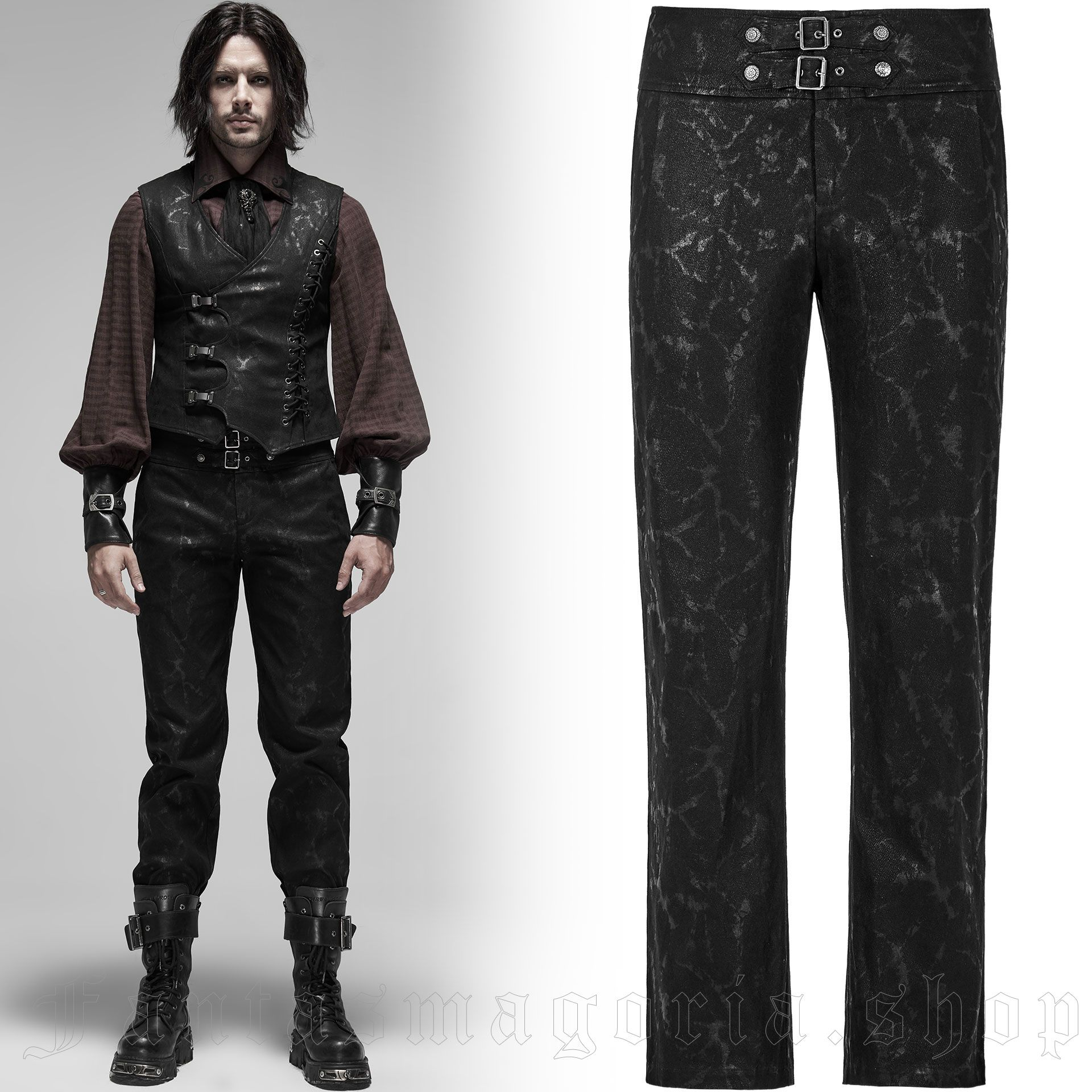 men's Coyote Trousers by PUNK RAVE brand, code: WK-416/BK
