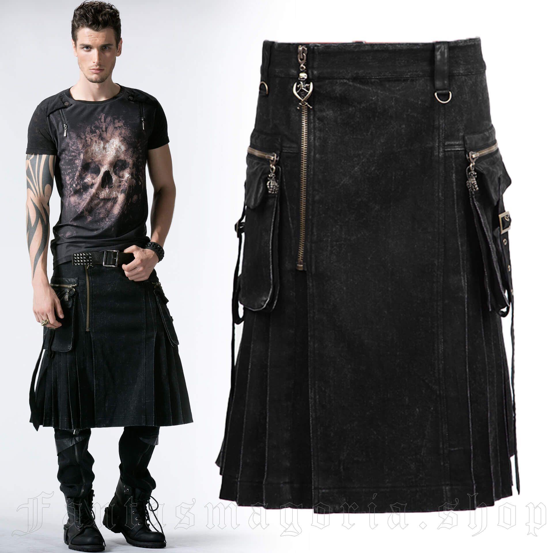 men's Berserk Kilt by PUNK RAVE brand, code: Q-225/BK