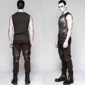 men's Mechanical Top by PUNK RAVE brand, code: T-466/BK