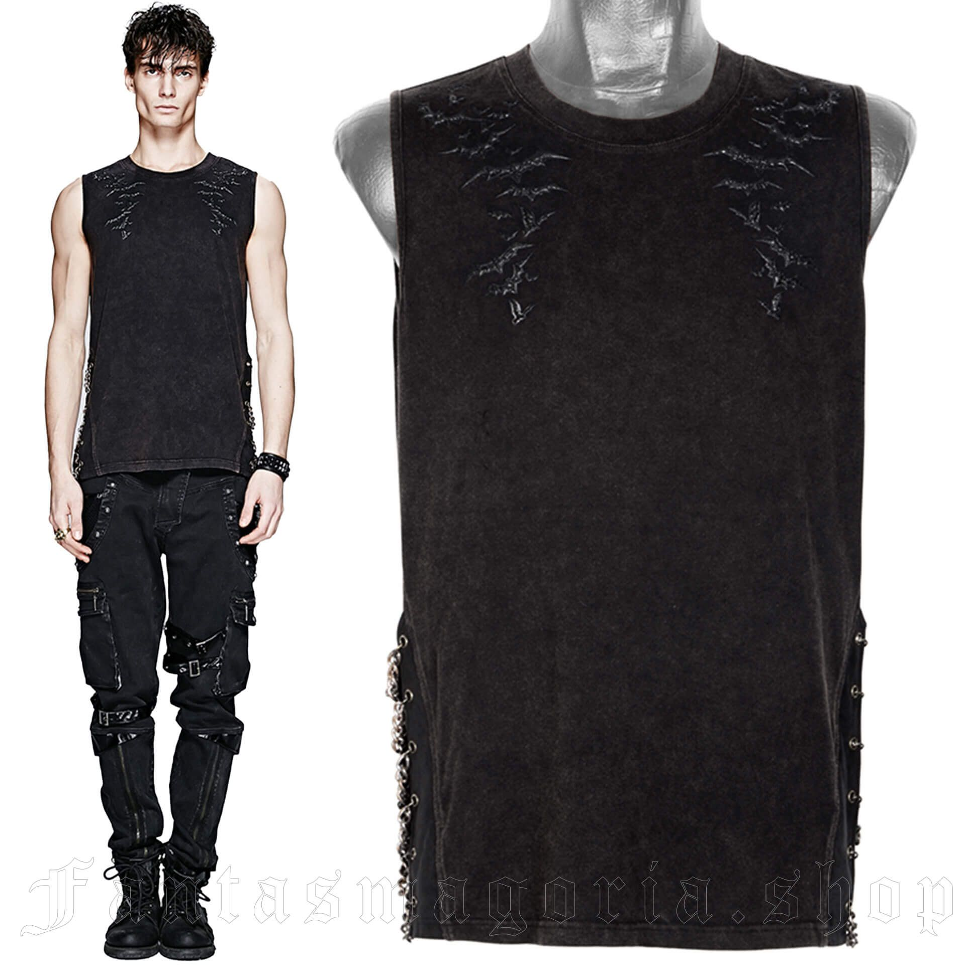 men's The Bats Top by PUNK RAVE brand, code: T-392