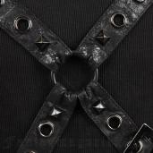 men's Diablo Top by PUNK RAVE brand, code: T-351/BK