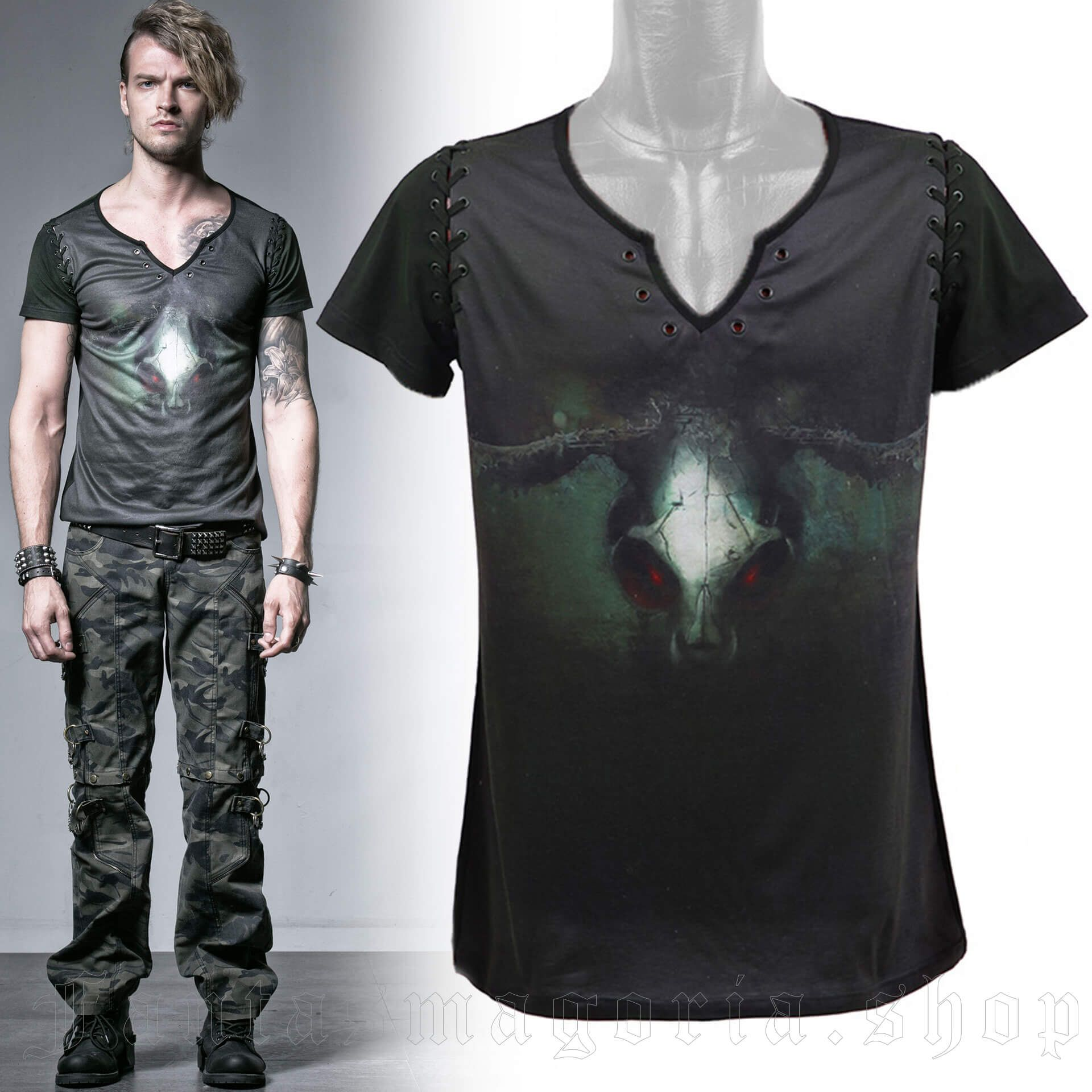 men's Silent Hill T-Shirt by PUNK RAVE brand, code: T-354/GR