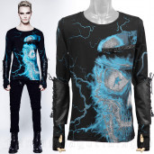 men's Thunderstorm Longsleeve Top by PUNK RAVE brand, code: T-331