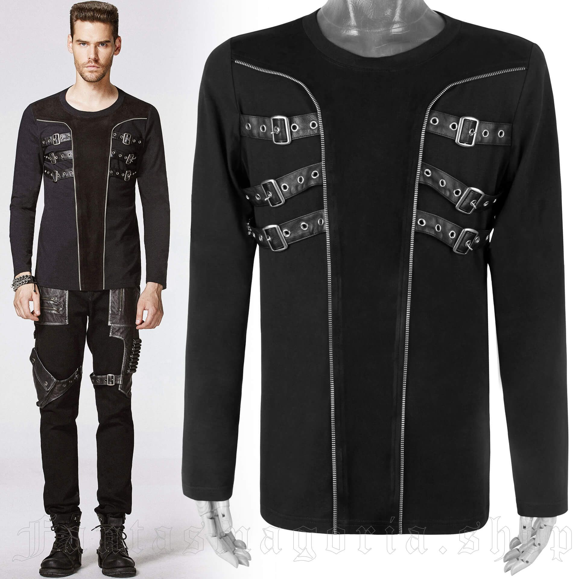 men's Incubus Longsleeve Top by PUNK RAVE brand, code: T-403