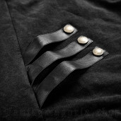 men's Commander Longsleeve Top by PUNK RAVE brand, code: T-440/BK