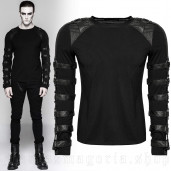 men's Aries Longlseeve Top by PUNK RAVE brand, code: T-457