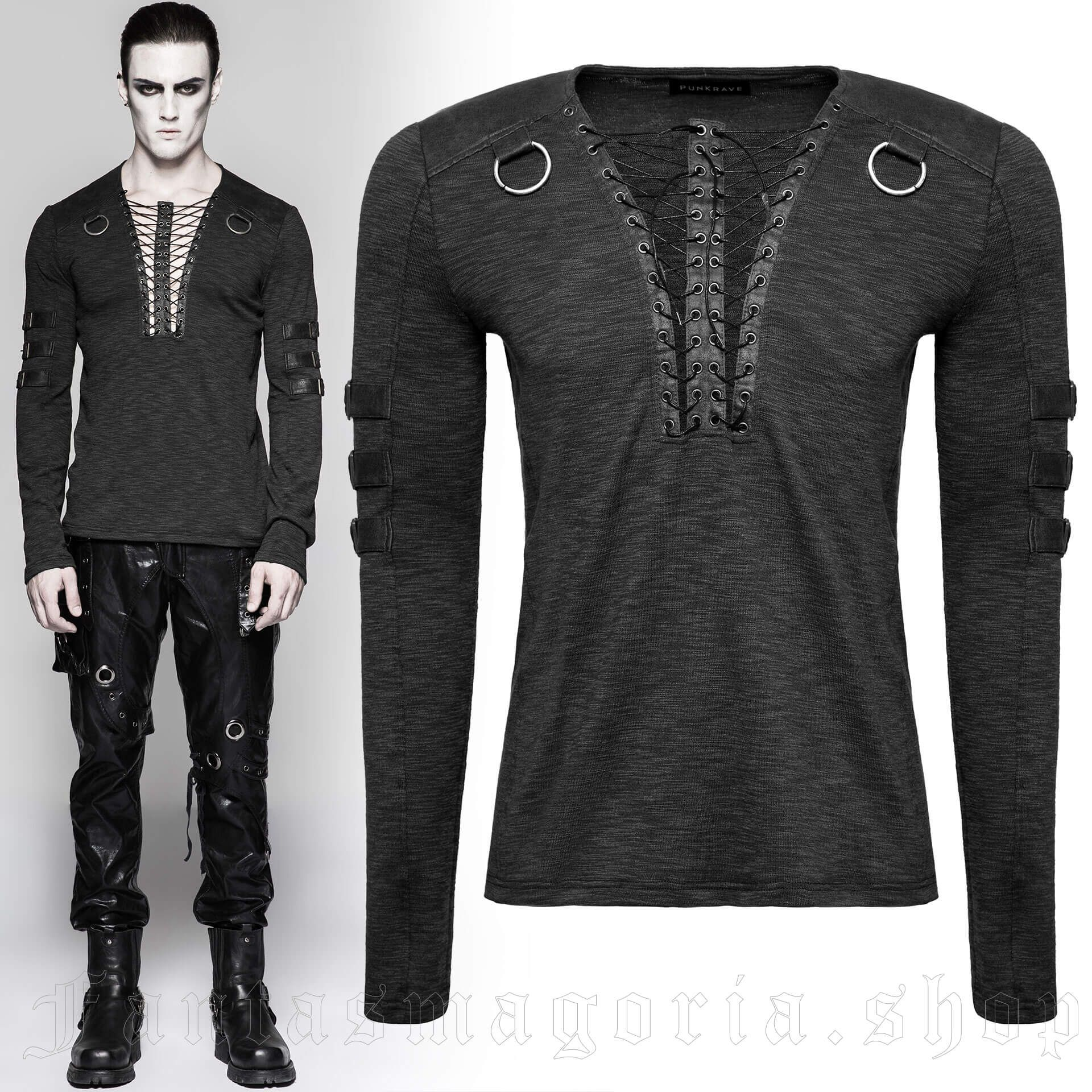 men's Viserion Longsleeve Top by PUNK RAVE brand, code: T-462